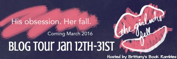 blog tour banner - the girl who fell